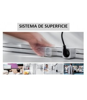 Kit canaleta superficie con enchufes deslizables ängel.