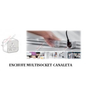 Enchufe Multisocket 10/13A Canaleta deslizable. ängel.