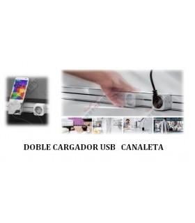 Doble cargador USB Canaleta deslizable. ängel.