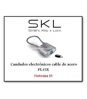 Candado electrónico cable de acero PL45X. Sistema IS, SKL