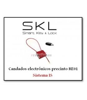 Candado electrónico precinto RE01. Sistema IS, SKL