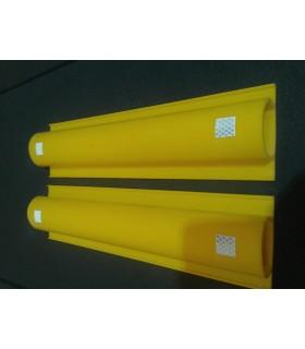 Tope de aparcamiento de pared de PVC de 500x120x65, TT-022, TopTop