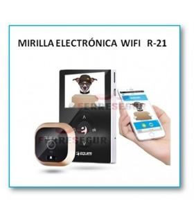 Mirilla digital Wi-Fi con sensor y timbre R21, Eques