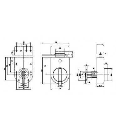 Candado alta seguridad universal con cilindro 4000Ω Master, cromo, Keso