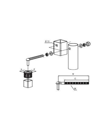 Kit bisagra regulable de contera de Locinox