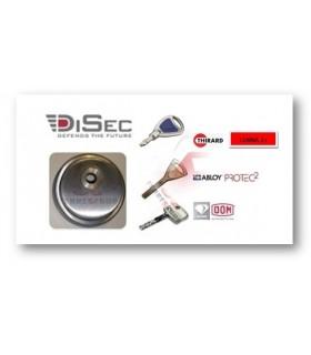 Escudo blindado de alta seguridad para Dom Diamant y Abloy Protec ,Serie ROK, Disec