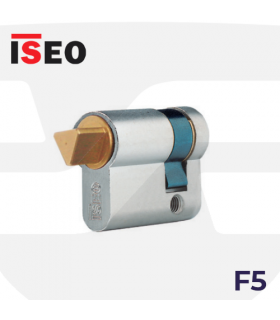 CILINDRO SERRETA F5 con desbloqueo llave triangulo, niquelado, ISEO