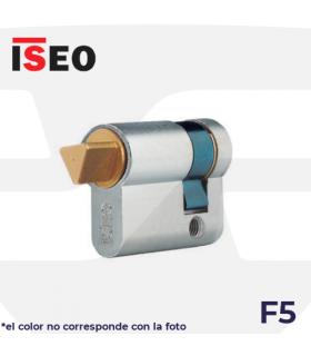 CILINDRO SERRETA F5 con desbloqueo llave triangulo, laton, ISEO