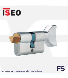 CILINDRO SERRETA F5 con pomo y desbloqueo, laton ISEO