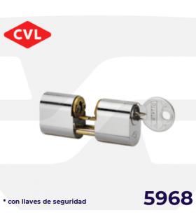 CILINDRO PERFIL OVALADO 5968 con llaves de seguridad, CVL