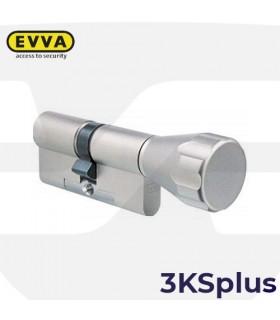 Cilindro Alta seguridad 3KSplus con Pomo,5 llaves, EVVA