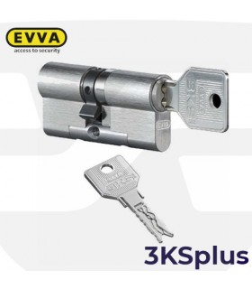 Cilindro Alta seguridad  3KSplus,doble embrague, 5 llaves, EVVA