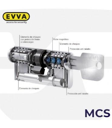 Cilindro Alta seguridad Magnético MCS Perfil Suizo, 5 llaves, EVVA