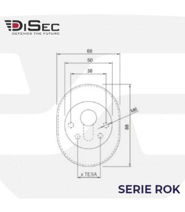 Escudo blindado de alta seguridad monolito BD255, Serie ROK, Disec
