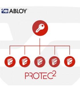 Amaestramiento  cilindros Abloy, Protec 2