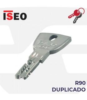 Llave copia de Cilindro R90, ISEO
