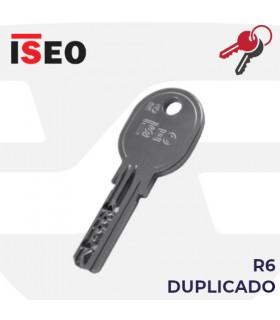 Llave copia de Cilindro R6, ISEO