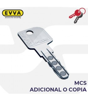 Llave copia o adicional de Cilindro MCS, EVVA
