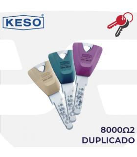 Llave copia de Cilindro 8000Ω2, KESO