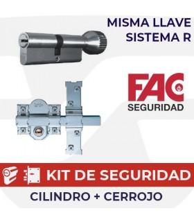 CONJUNTO DE SEGURIDAD MISMA LLAVE, SISTEMA R, FAC SEGURIDAD,