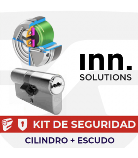Kit alta seguridad Inn, Cilindro Key Smart, Vds Bz+ con escudo Pro, INN
