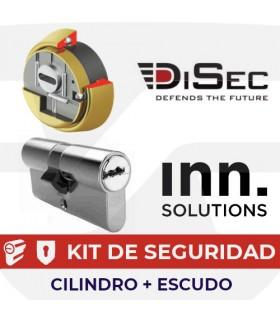 Kit Cilindro alta seguridad Inn Key Smart, Vds Bz+ con escudo Kripton, INN Disec