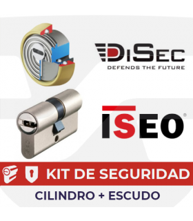 Kit Cilindro R9PLUS con escudo BD280MR, ISEO Disec