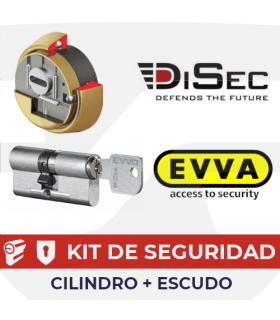 Kit MCS Cilindro Alta seguridad Magnético + Escudo Kripton, EVVA, Disec