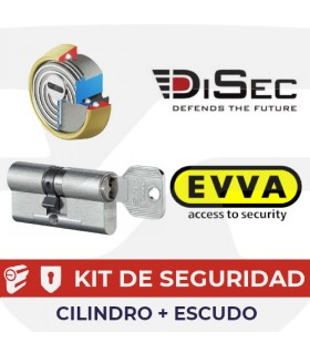 Kit Cilindro Alta seguridad 4KSplus, + escudo ROCK BD280MR.  5 llaves, EVVA