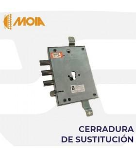 Cerradura sustitución 3 bulones engranajes puertas acorazadas de llave de gorjas a perfil europeo, MOIA