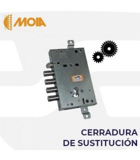 Cerradura sustitución Cisa en puertas acorazadas de llave de gorjas a perfil europeo, MOIA