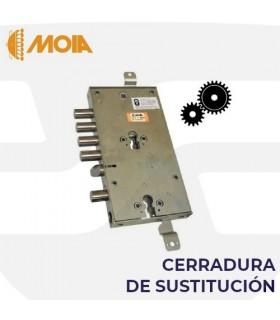 Cerradura sustitución doble cilindro engranajes puertas acorazadas de llave de gorjas a perfil europeo, MOIA