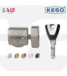 Cerrojo seguridad EP50 con cilindro Keso 8000, SAG