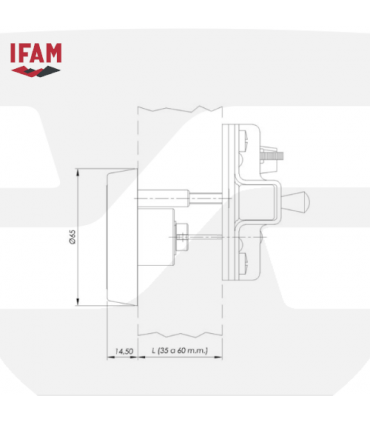Cerrojo seguridad sobreponer CS88LV, IFAM
