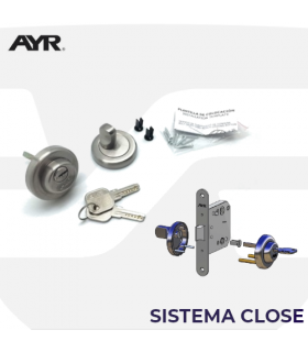 Sistema Close, Muletilla 103CM, llave-condena, manivelas de roseta AYR