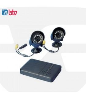 Grabador DVR de 2 canales + 2 cámaras, BTV