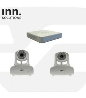 Kit video grabador con disco duro + 2 Cámara IP Wifi, Inn Solutions