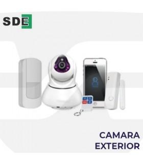 Cámara de exterior IP HD vision nocturna de Alarma. SDE