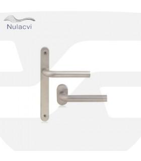 Manivela acero inox con placa estrecha 230x28, Nulacvi