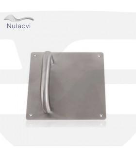 Manillon acero inox con placa cuadrada 170x170, Nulacvi