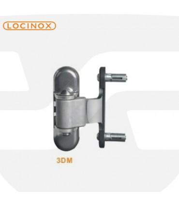 Bisagra regulable en 3 ejes de Locinox