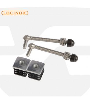 Kit bisagra regulable de contera aluminio reforzado de Locinox