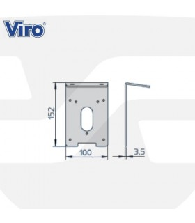 Accesorios instalación cerradura eléctrica, V06, VIRO