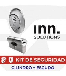 Kit alta seguridad Inn, Cilindro Key Smart, Vds Bz+ con escudo Basic+ Slippery, INN