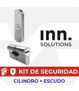 Kit alta seguridad Inn, Cilindro Key Smart, Vds Bz+ con escudo Basic+ Protector, INN
