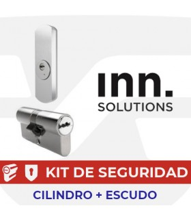 Kit alta seguridad Inn, Cilindro Key Smart, Vds Bz+ con escudo Smart Protector BQ, INN
