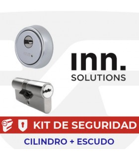 Kit alta seguridad Inn, Cilindro Key Smart, Vds Bz+ con escudo Smart Eco BQ, INN
