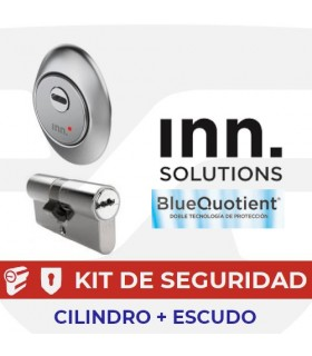 Kit alta seguridad Inn, Cilindro Key Smart, Vds Bz+ con escudo Smart Slippery BQ, INN