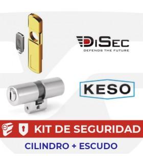 Kit Cilindro Alta Seguridad, Perfil Suizo 8000Ω Master + Escudo magnetico MG060