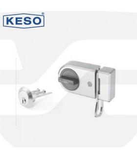 Cerradura de pestillo con cilindro 8000Ω Master, cromo, Keso